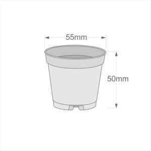 5.5 cm Kaktüs ve Sukulent Yetiştirme Saksısı 30 Adet Kahverengi - Thumbnail