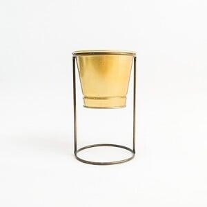 Fidan Burada - Ayaklı Saksı Gold Renk 10 cm