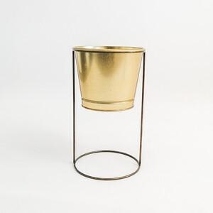 Fidan Burada - Ayaklı Saksı Gold Renk 13 cm