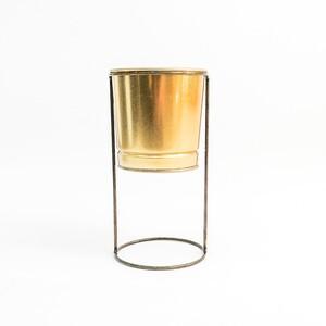 Fidan Burada - Ayaklı Saksı Gold Renk 16 cm