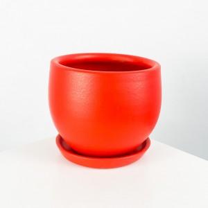 Fidan Burada - Curvy Terra Cotta Saksı - Kırmızı 12cm
