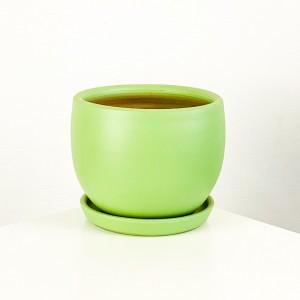 Fidan Burada - Curvy Terra Cotta Saksı - Mint Yeşil 12cm
