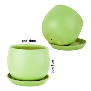 Fidan Burada - Curvy Terra Cotta Saksı - Mint Yeşil 9cm