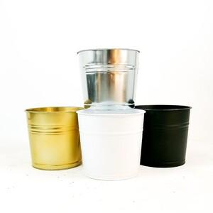 Fidan Burada - Fiora Renkli Metal Saksı 30 Cm
