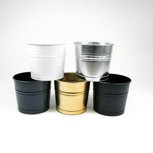Fidan Burada - Galio Renkli Metal Saksı 26 Cm