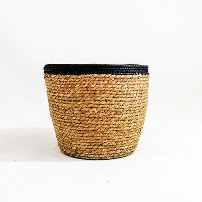 Hasır Saksı - Lane - Siyah - 30cm