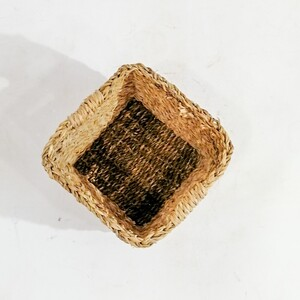 Hasır Saksı Sepet Kare - Medium - Thumbnail