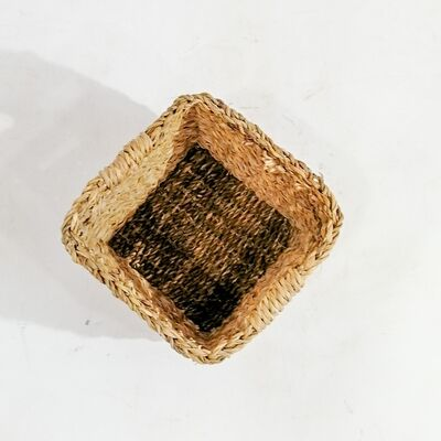 Hasır Saksı Sepet Kare - Medium