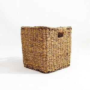 Hasır Saksı Sepet Kare - Small 20cm - Thumbnail
