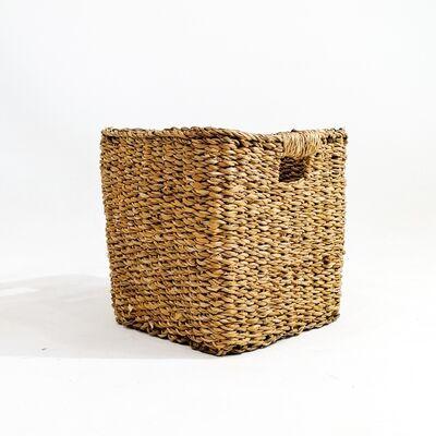 Hasır Saksı Sepet Kare - Small 20cm