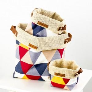 Fidan Burada - Plant Basket - Blok Desenli