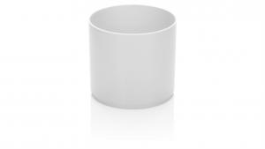 Fidan Burada - Trend Saksı - Beyaz Küçük Boy Dekoratif Saksı 0,45 Lt